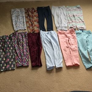 Old Navy Bottoms - 11 pairs Girls 5T leggings, sweats, jeggings